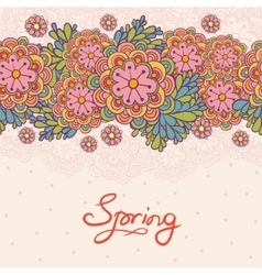 Cute floral romantic card vector image