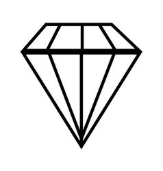 Diamond gem jewelry vector