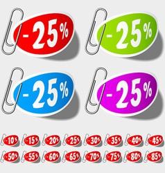Discount percent labels vector