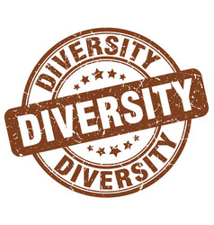 diversity brown grunge stamp vector image vector image