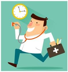 doctor around the clock vector image