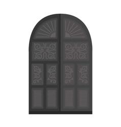 Door isolated vector image vector image