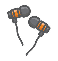 earphones filled outline icon music vector image