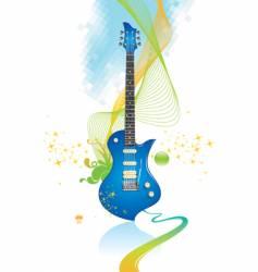 electro guitar vector image vector image