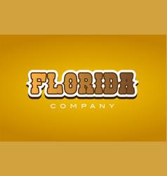 florida western style word text logo design icon vector image