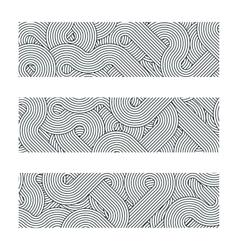 geometric boarders elements black vector image vector image