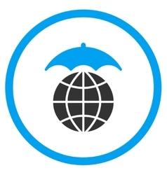 Global Umbrella Icon vector image vector image
