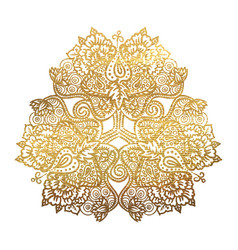 golden tribal mandala vector image
