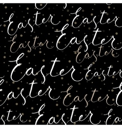 Happy Easter calligraphy write with brush pen vector image vector image