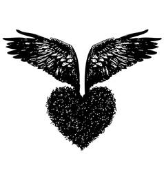 Heart wing vector