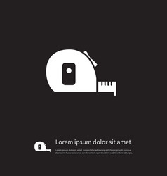 Isolated measurement icon roll meter vector