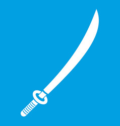 Katana icon white vector