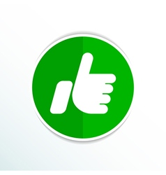 Like icon line isolated outline ok vector