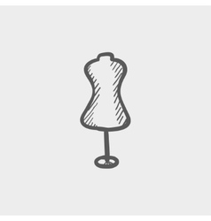 Mannequin sketch icon vector