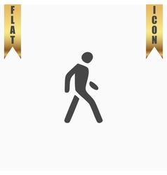 Pedestrian flat icon vector image vector image