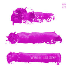 Set of magenta purple pink lilac watercolor vector