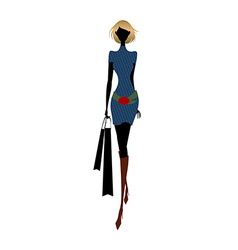 stylish woman vector image vector image