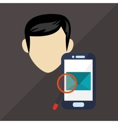 Technology design smartphone icon colorful vector