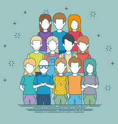 woman and man character avatar people vector image