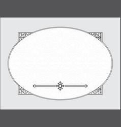 wedding template frame vector image
