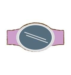 Pink steel digital smart watch screen vector