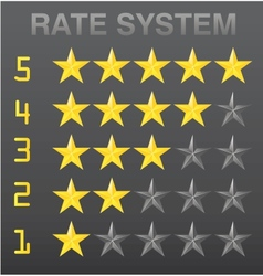 Rating stars set red vector image