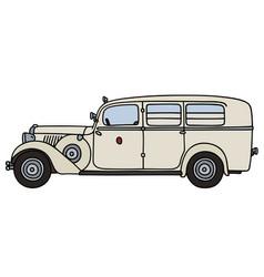 Vintage ambulance car vector