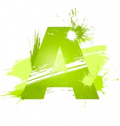 Letter a background vector