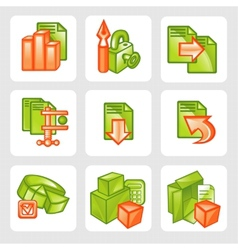 Business icons - set vector