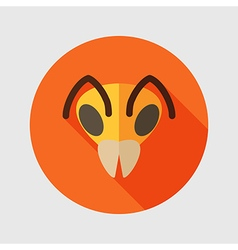 Bee flat icon animal head symbol vector