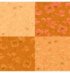 Poppy vintage seamless vector image