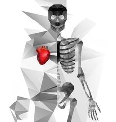 Abstract polygonal skeleton vector