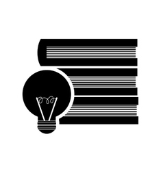 Books and lightbulb icon vector image