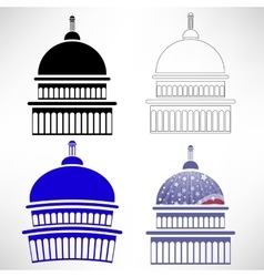 Capitol Icons vector image