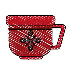 Christmas cup design vector