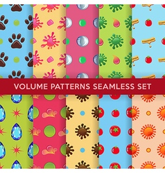 Colored seamless blobs drops pattern vector image vector image