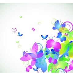 Colorful abstract background with butterfly vector image vector image