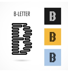 Creative b - letter icon abstract logo design vector