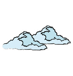 drawn cloud weather climate image vector image