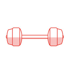 Dumbbells sport gym flat shadow vector