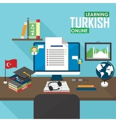 E-learning turkish language vector