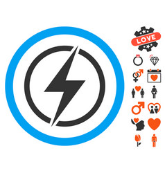 Electrical hazard icon with lovely bonus vector