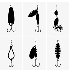 Fishing baits vector image