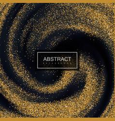 Golden confetti glitters vector