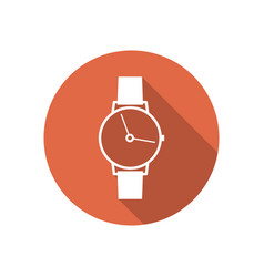 Icon wrist watch vector