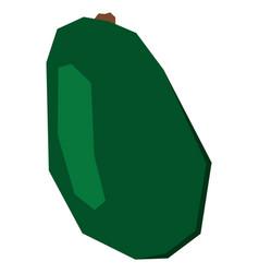 Isolated geometric avocado vector