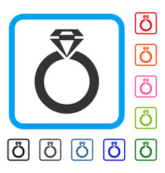 jewelry ring framed icon vector image