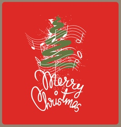 Merry christmas song vector image vector image