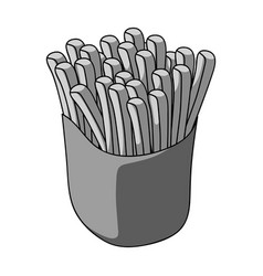 Packaging single icon in monochrome style vector