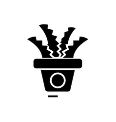 plant in the pot - office cactus icon vector image vector image